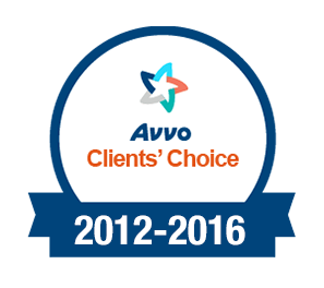 Avvo Client Choice Award (2012-2016)